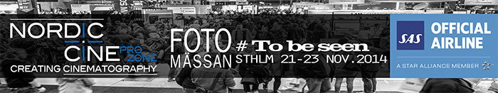 Nordic Cine Pro Zone – 21st – 23rd  November 2014