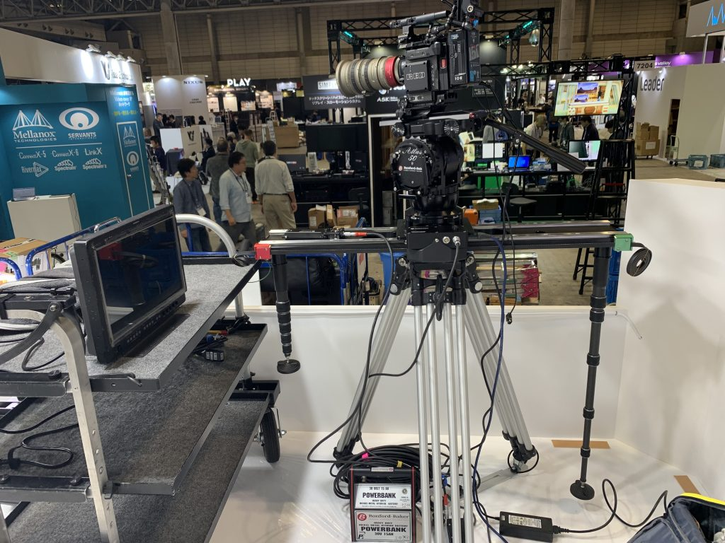 "H.D. Tripod, 42"" Motorised Slider and Atlas 50S Fluid Head"